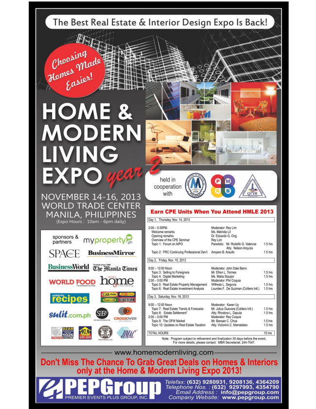 home modern living expo realty by jm