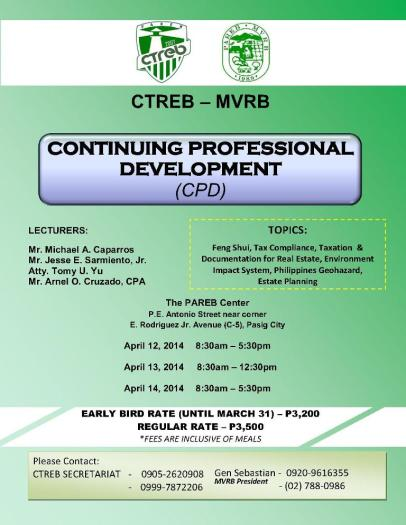 The CTREB-MVRB Continuing Professional Development (CPD) April 2014 Promo