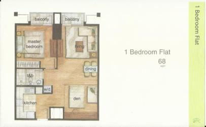 The Grove Floor Layout 1Br Flat