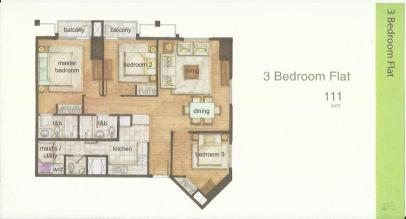 The Grove Floor Layout 3Br Flat